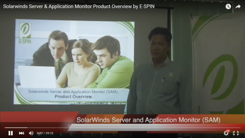 Solarwinds Server and Application Monitor Product Overview by E-SPIN